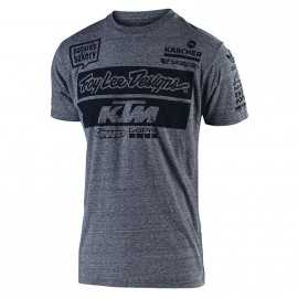 Tee-shirt Troy lee designs Team KTM gris vintage 2019