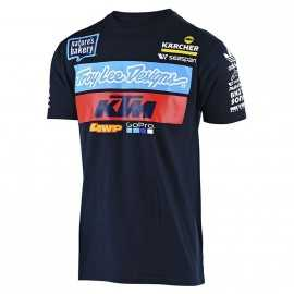 Tee-shirt Troy lee designs Team KTM navy 2019