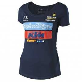 Tee-shirt Troy lee designs femme Team KTM navy 2019