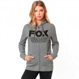 Sweat Fox Ascot zippé heather grey