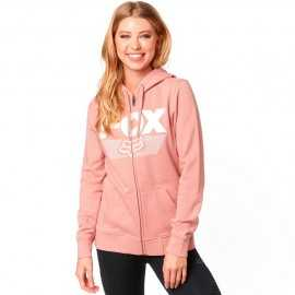 Sweat Fox Ascot zippé rose