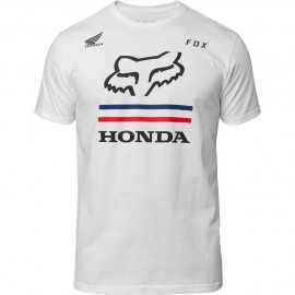 Tee-shirt Fox Honda premium white 2019