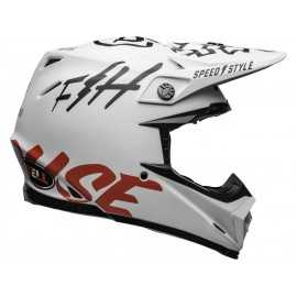 Casque cross Bell Moto-9 Carbon Flex Fasthouse WRWF white black red 2019
