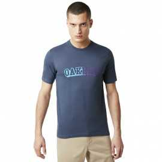 Tee-shirt Oakley Velvet Logo Foggy Blue