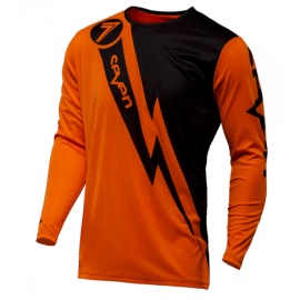 Maillot cross Seven enfant Annex Volt orange fluo