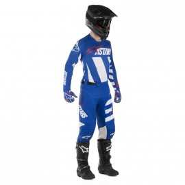 Tenue Alpinestars Racer Braap blue white red 2019