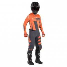Tenue Alpinestars Racer Braap anthracite orange fluo sand