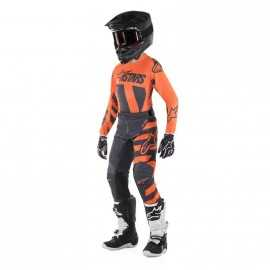 Tenue cross Alpinestars Enfant Racer Braap anthracite orange fluo 2019