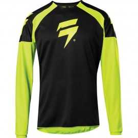 Maillot Cross Shift Whit3 Label Race 1 jaune fluo 2020