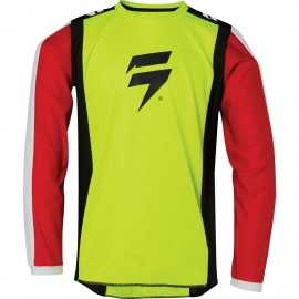 Maillot Cross Shift Enfant Whit3 Race 2 jaune fluo 2020