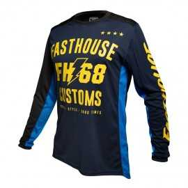 Maillot Fasthouse Worx 68 blue yellow 2020