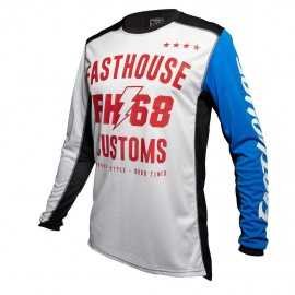 Maillot Fasthouse Worx 68 white blue 2020