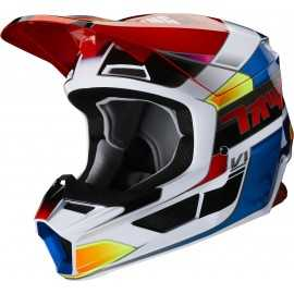 Casque cross Fox V1 YORR blue red 2020