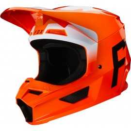 Casque cross Fox V1 WERD orange fluo 2020