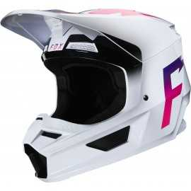 Casque cross Fox V1 WERD white 2020