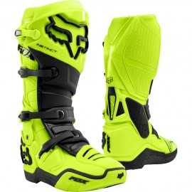 Bottes cross Fox Instinct jaune fluo 2021