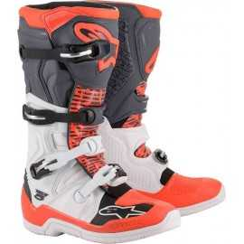 Bottes cross Alpinestars Tech 5 white gray red fluo 2020