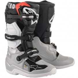 Bottes cross enfant Alpinestars Tech 7S black silver white gold 2020