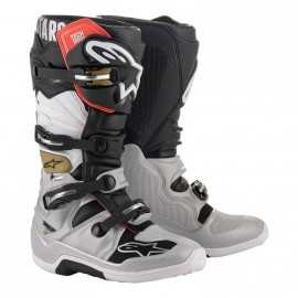 Bottes cross Alpinestars Tech 7 black silver white gold