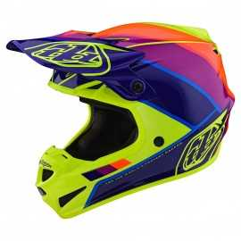 Casque cross Troy Lee Designs SE4 Polyacrylite Beta yellow purple 2020