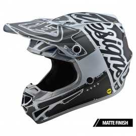 Casque cross Troy Lee Designs SE4 Polyacrylite Factory silver 2020