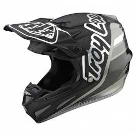 Casque cross Troy Lee Designs SE4 Carbone Silhouette black silver