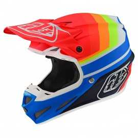 Casque cross Troy Lee Designs SE4 Composite Mirage blue red