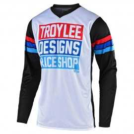 Maillot Troy lee designs GP Carlsbad white black 2020