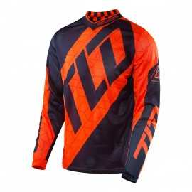 Maillot Troy lee designs Enfant GP Quest orange fluo navy