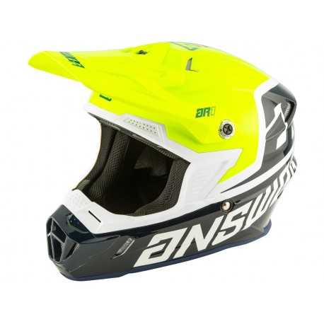 Casque Cross Answer AR1 Voyd bleu vert fluo blanc 2020