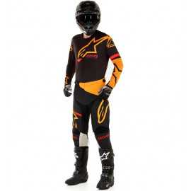 Tenue Alpinestars Racer Tech Compass noir orange 2020