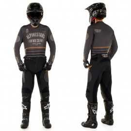 Tenue Alpinestars Racer Tech Flagship gris noir orange 2020