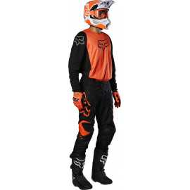 Tenue Fox 180 PRIX noir orange fluo 2020