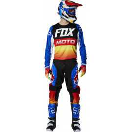 Tenue Fox 180 FYCE bleu rouge 2020