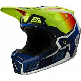 Casque cross Fox V3 RS Wired jaune fluo 2021