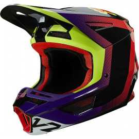 Casque cross Fox V2 VOKE dark purple 2021