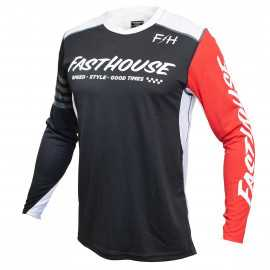 Maillot Fasthouse Raven noir rouge 2021