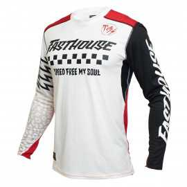 Maillot Fasthouse Raven Bereman cream rouge 2021