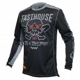 Maillot Fasthouse Grindhouse Twitch noir gris 2021