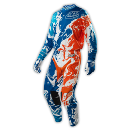 Tenue enfant Troy lee designs gp galaxy bleu orange