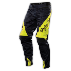 pantalon troy lee designs sprint gris jaune fluo