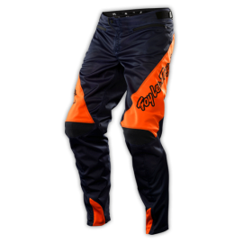pantalon troy lee designs sprint bleu orange fluo